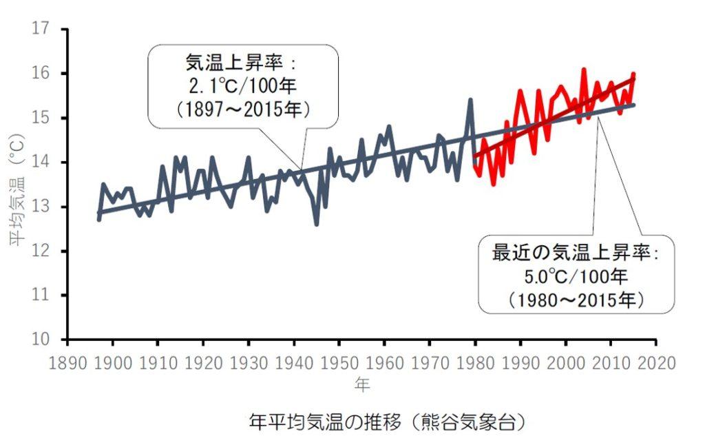 熊谷の気温の推移
